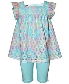 Baby Girls 2-Pc. Rainbow Lace Top & Shorts Set