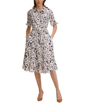 Calvin Klein Dresses PETITE FLORAL-PRINT SHIRTDRESS