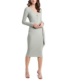 Long-Sleeve Henley Dress