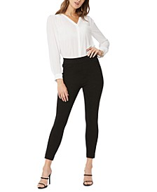 Solid Pull-On Legging Capri Pants