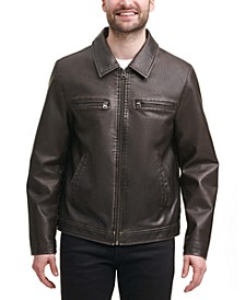 Men's Regular-Fit Faux-Leather Jacket