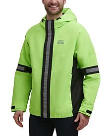 Men's Tech Regular-Fit Colorblocked Hooded Rain Jacket
