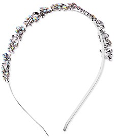 INC Silver-Tone Crystal Flower Headband, Created for Macy's
