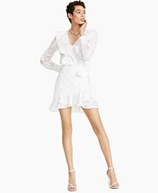 Eyelet Wrap Mini Skirt, Created for Macy's