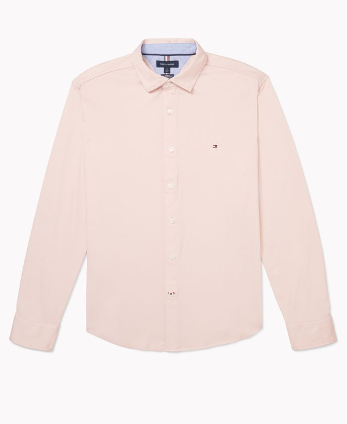 Tommy Hilfiger Men's Slim-Fit Perry Knit Shirt with Magnetic Buttons & Reviews - Casual Button-Down Shirts - Men - Macy's