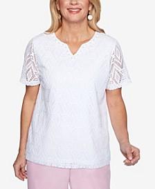 Plus Size Classics S1 Diamond Lace Top