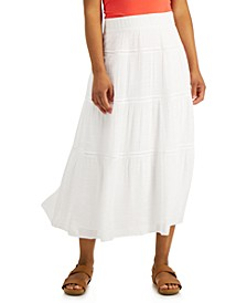 Gauze Tiered Skirt, Created for Macy's