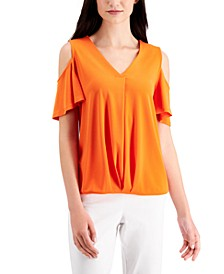 Solid Cold-Shoulder Top, Created for Macy's