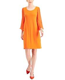 Pleated-Sleeve Dress, Created for Macy's