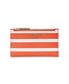 Spencer Stripe Small Slim Bifold Wallet