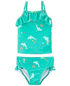 Toddler Girls Dolphin Tankini, 2 Piece