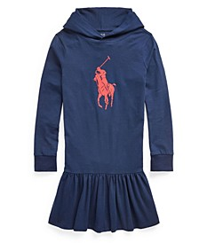 Big Girls Big Pony Jersey Hooded Dress