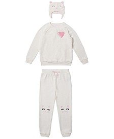 Little Girls 3 Piece Minky Outfit Set