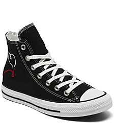 Women's Chuck Taylor All Star High Top Made with Love Casual Sneakers from Finish Line