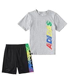 Little Boys Gamescape T-shirt and Shorts Set, 2 Piece