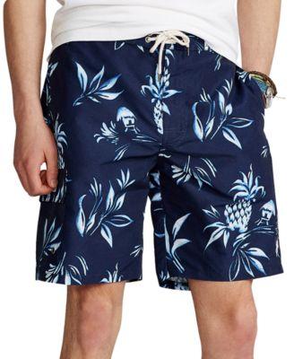 폴로 랄프로렌 Polo Ralph Lauren Mens 8.5-Inch Kailua Swim Trunks,Pineapple Hut