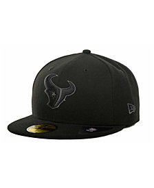 New Era Houston Texans Black Gray 59FIFTY Hat