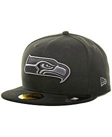 Seattle Seahawks Black Gray 59FIFTY Cap