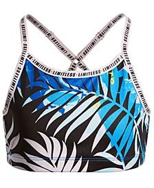 Big Girls Cross-Back Printed Sports Bra, Created for Macy's