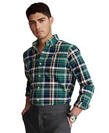 Men's Classic-Fit Tattersall Oxford Shirt