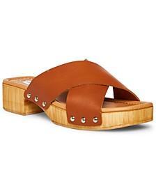 Women's Bryna Crisscross Wooden Platform Sandals