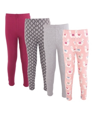 Hudson Baby BABY GIRLS AND BOYS COTTON PANTS AND LEGGINGS, 4 PACK