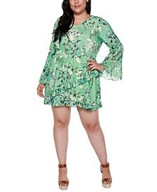 Black Label Plus Size Floral Dress