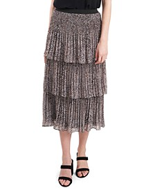 Three-Tier Pleated Skirt
