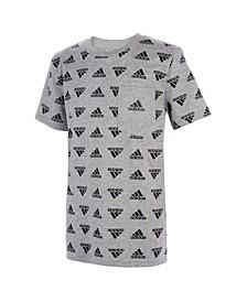 Big Boys Brand Love Print T-shirt