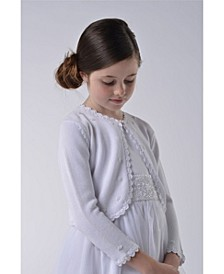 Big Girls Beaded Cotton Sweater