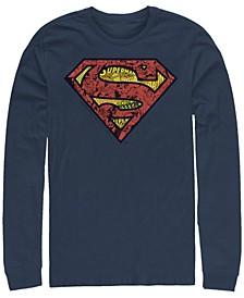 Men's Superman Inside Comics Long Sleeve Crew T-shirt