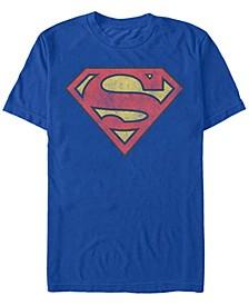 Men's Superman Vintage-Inspired Shield Short Sleeve T-shirt