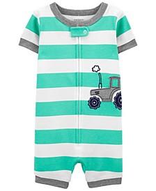 Baby Boys Tractor Romper Pajamas