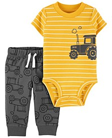 Baby Boys Construction Bodysuit Pant Set, 2 Pieces
