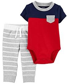 Baby Boy Colorblock Bodysuit Pant Set