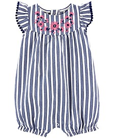 Baby Girls Floral Striped Romper