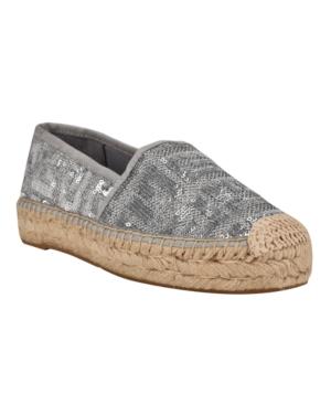 Guess Women's Jessea Espadrille Sneakers Women's Shoes In Silver