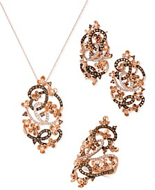 Crazy Collection® Diamond Fancy Scroll Floral Jewelry Collection