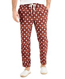 Men's Geo-Print Drawstring Pants, Created for Macy's