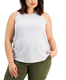 Plus Size Solid Cutaway Tank Top, Created for Macy's