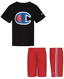 "Baby Boys 2-Pc. ""C"" Logo T-Shirt & Mesh Shorts Set"