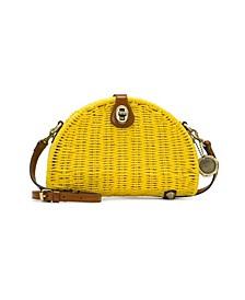 Straw Bonella Dome Crossbody Bag
