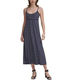 Striped Jersey-Knit Dress