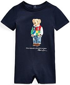 Baby Boys Polo Bear Cotton Sunsuit