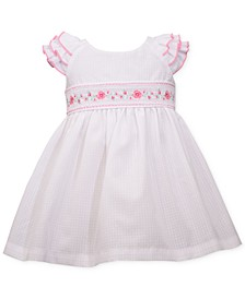 Baby Girls Embroidered Check Dress