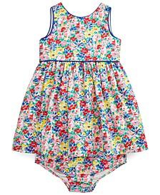 Ralph Lauren Baby Girls Floral Poplin Dress & Bloomer Set