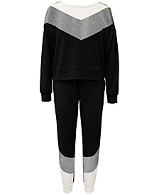 Chevron Stripe Loungewear Set, Created for Macy's
