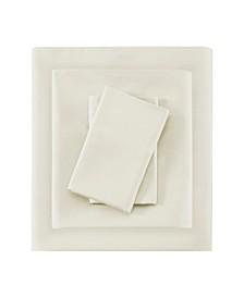King 100% Pima Cotton Sateen Sheet Set, 4 Piece