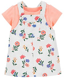 Baby Girls Tee and Floral Skirtall Set, 2 Pieces