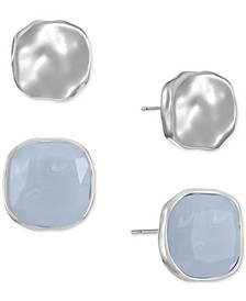 2-Pc. Set Colored Stone Square Stud Earrings, Created for Macy's